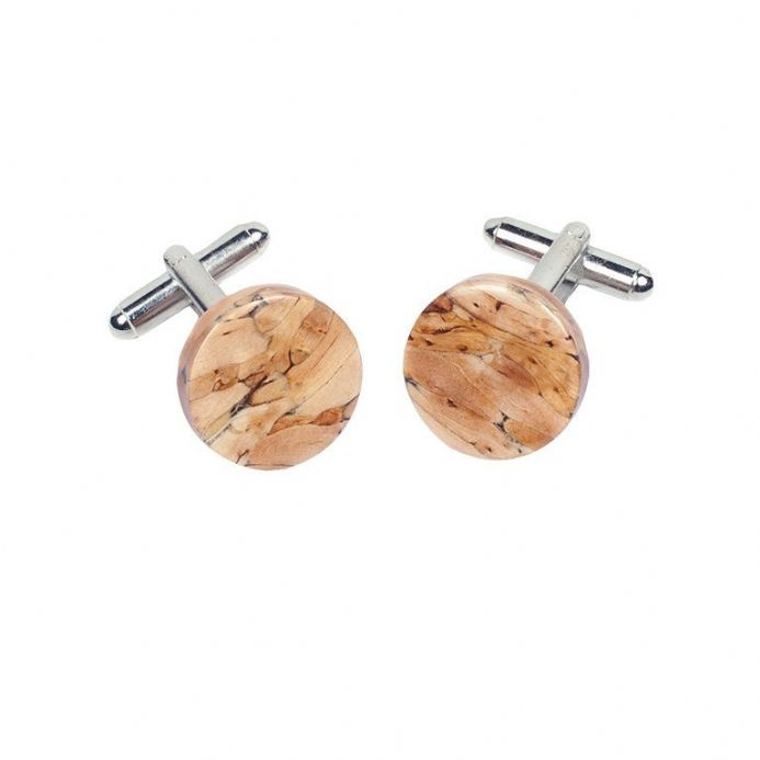 Heathergems Natural Round Cufflinks HC10N